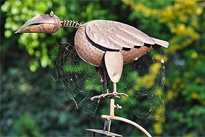 Deko-Vogel aus Metall