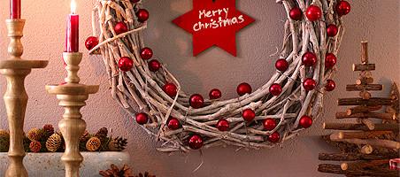 Weihnachtskranz aus Naturzweigen