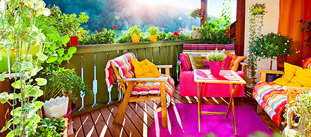 Urlaub auf dem Balkon