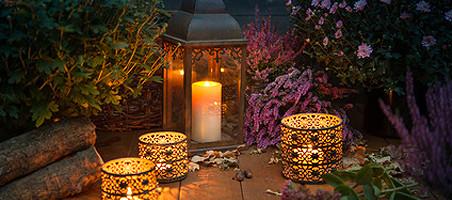 romantische Windlichter